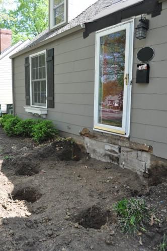 Front Porch Hole