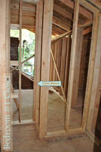 Bedroom 1 Closet Framing 2