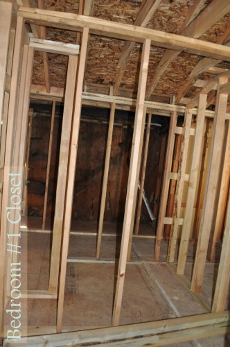 Bedroom 1 Closet Framing