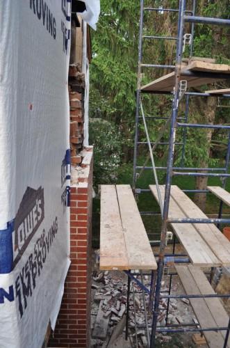 Chimney Rebuild Start (2)