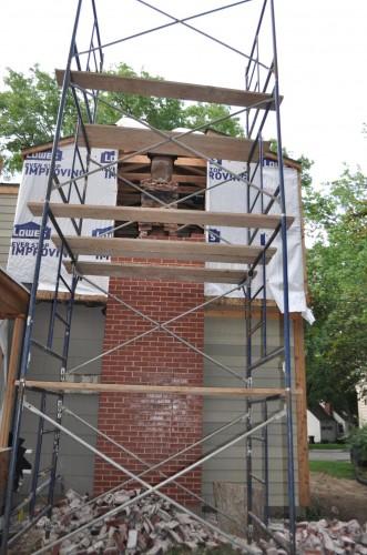 Chimney Rebuild Start (4)