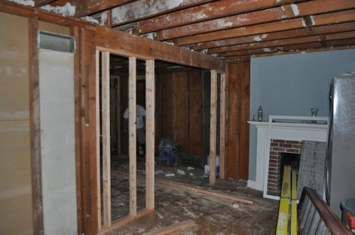 Framing of Front Room