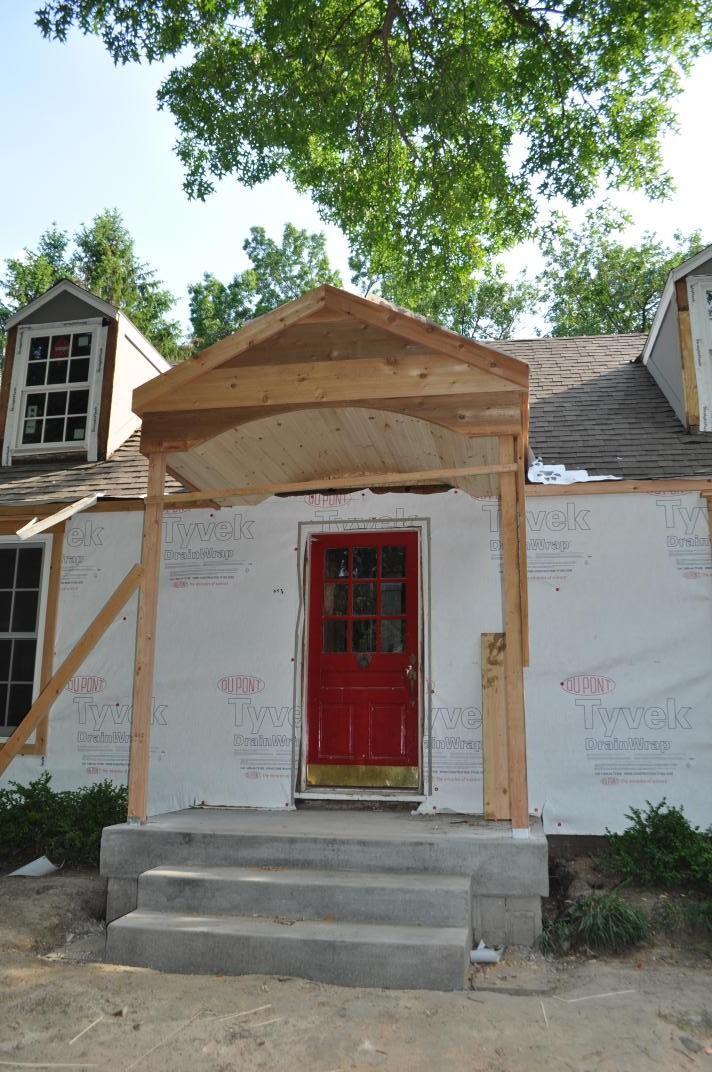 Our new portico village cape codvillage cape cod for Door portico