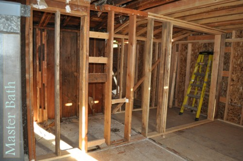 Master Bath Framing