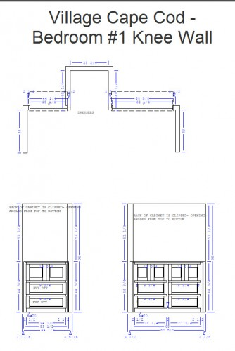 Bedroom 1 Knee Wall Cabinet Plans