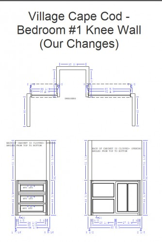 Bedroom 1 Knee Wall Cabinet Plans - Our Changes