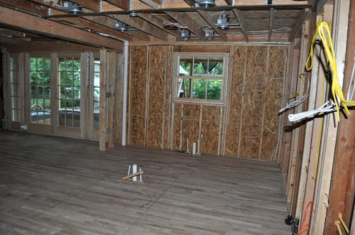 Before Kitchen - Insulation
