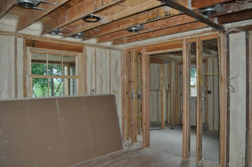 Dining Room - Foam Insulation