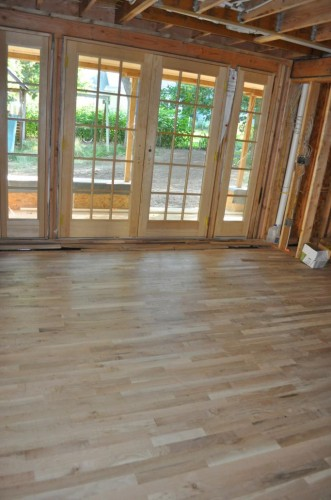 Dining Room Unfinished New Wood Floors (2)
