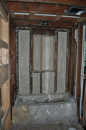 Downstairs Bathroom - Foam Insulation