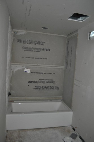 Downstairs Bathroom - Sheetrock (2)
