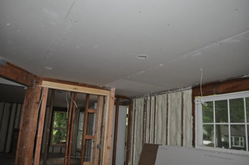 Front Room - Ceiling Sheet Rock