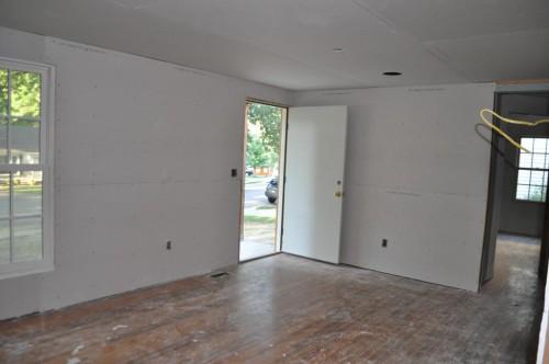 Front Room - Sheetrock (2)