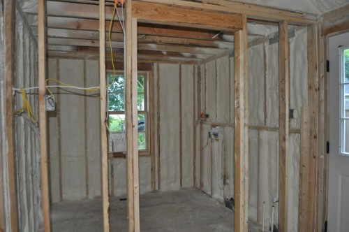 Laundry Room - Foam Insulation