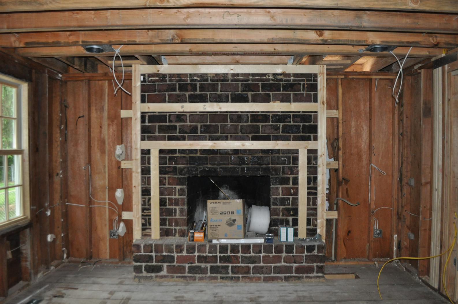 Best Of 15 Images Framing Corner Fireplace - Building ...