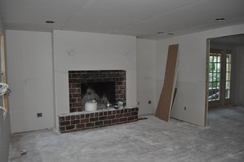 Living Room - Sheetrock (2)