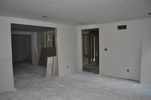 Living Room - Sheetrock (3)