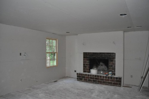 Living Room - Sheetrock