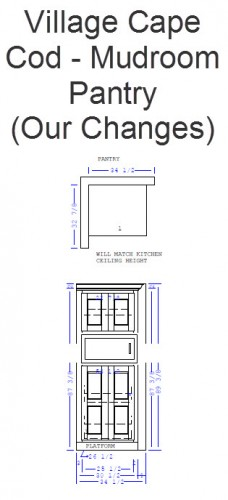 Mudroom Pantry Cabinets - Our Changes