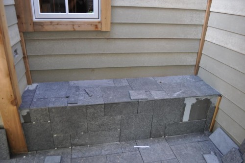 Upper Porch Flamed Granite Tile