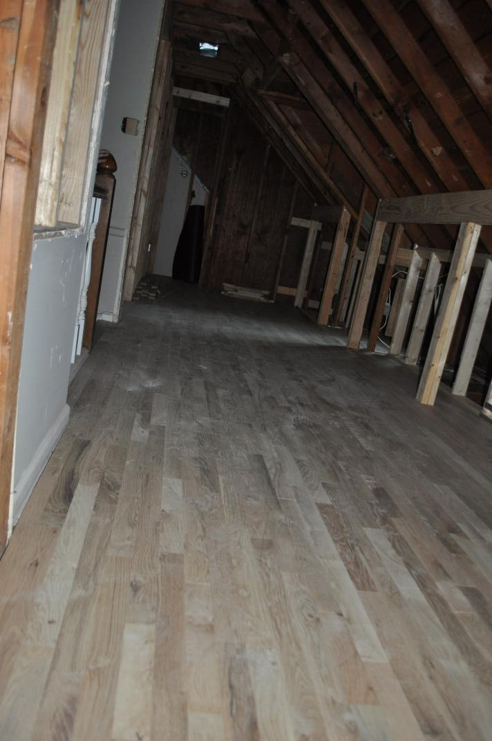 Not so quick review of the house village cape codvillage for Hardwood floors upstairs