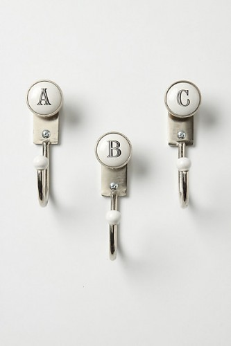Anthropologie Initial Hooks