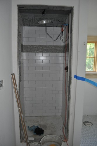 Baby Boy's Room Subway Tile Start