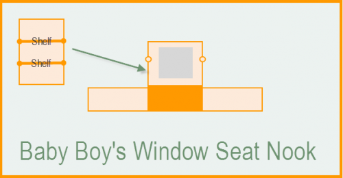 Baby Boy's Window Seat Nook