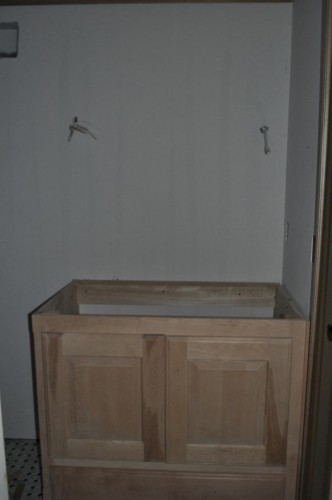 Downstairs Bathroom - Cabinet Installation