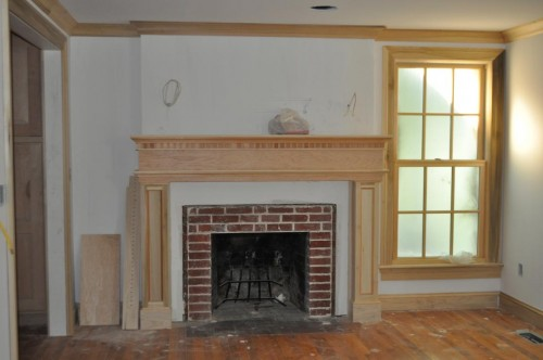 Front Room - Fireplace Mantel Installed