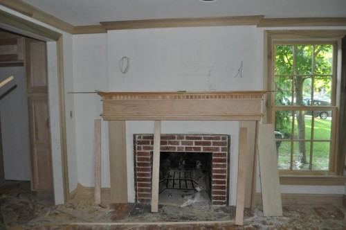 Front Room Fireplace Mantel Start