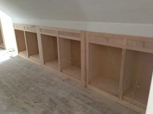 Hallway Knee Wall Bookcases