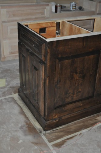 Kitchen - Center Island Cabinet Stain (2)