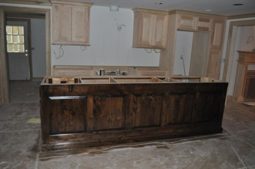 Kitchen - Center Island Cabinet Stain