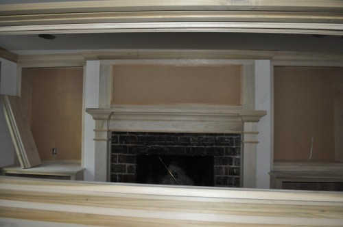 Living Room Mantle Trim