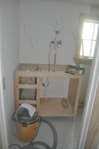 Maren's Bathroom - Cabinet Install