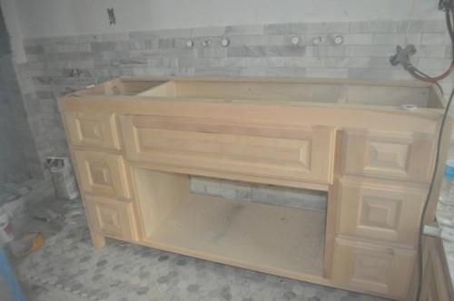 Master Bathroom - Cabinet Install