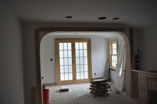 Master Bedroom Curve Trim