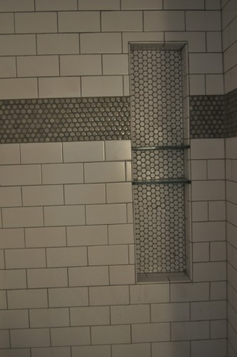 Baby Boy Bathroom - Glass Shower Shelves (2)