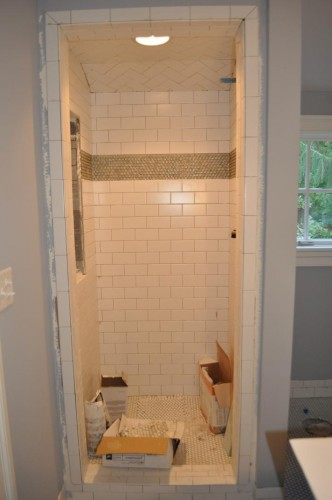 Baby's Bathroom - Tile and Light