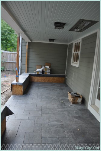 Back Porch - Finished Tile