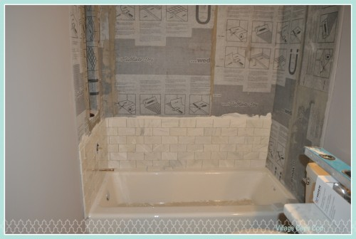 Downstairs Bathroom - Tub Tile (2)
