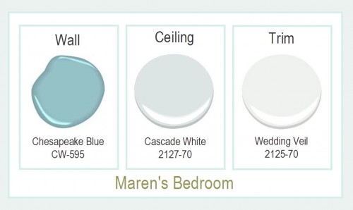 Maren's Bedroom Paint Colors