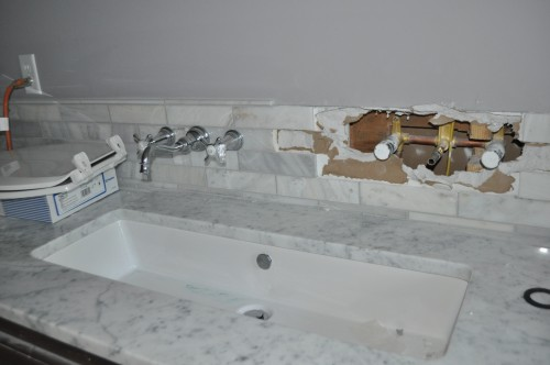 Master Bathroom - Tile Sink and Faucet (1)