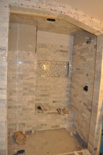 Master Bathroom - Tiling