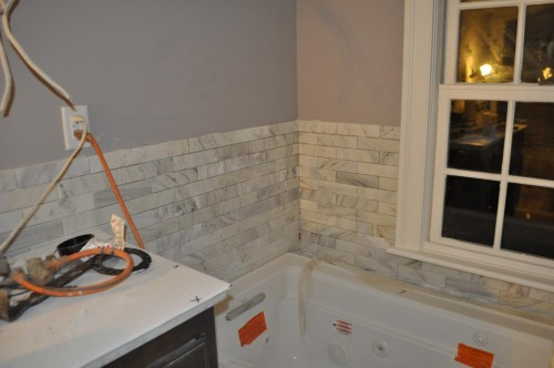 Master Bathroom - Tiling (7)