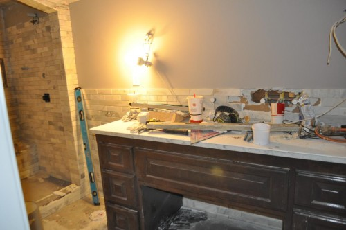 Master Bathroom - Tiling (9)