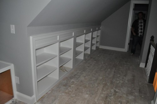 Upstairs Hallway - Bookcase Shelving (2)