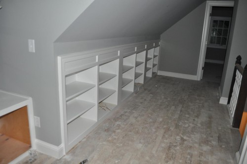 Upstairs Hallway - Bookcase Shelving (3)