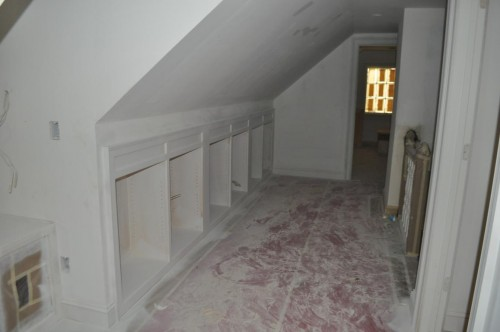 Upstairs Hallway - primed Paint 2